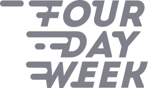 grey four day week logo