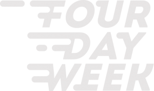 four day week white logo