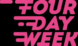 pink four day week logo