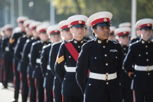 marines line up