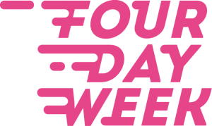four day week pink logo