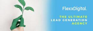 flexxdigital header with plant