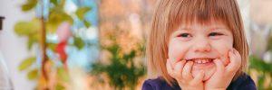 happy child smiling in header