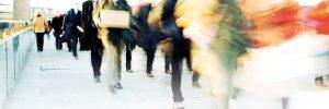busy street people walking