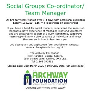job ad for archway foundation